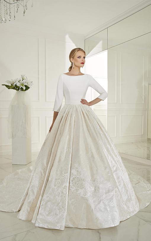 Robe de mariée princesse en satin