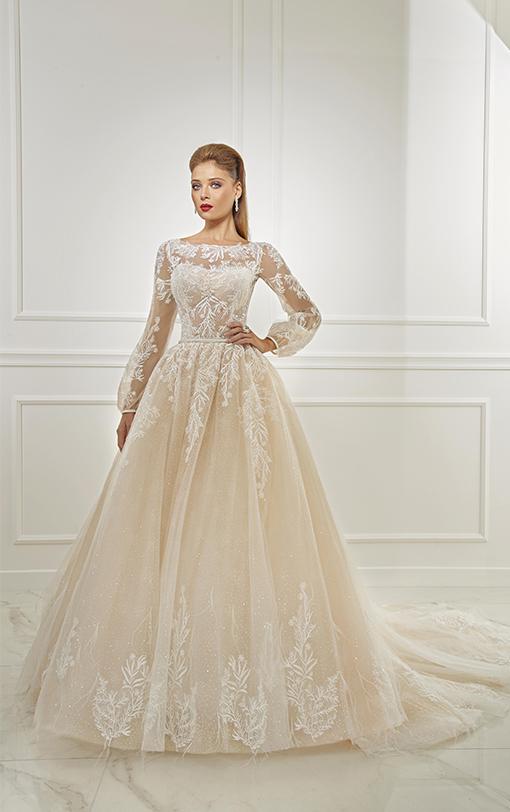robe de mariée princesse avec manches bouffantes