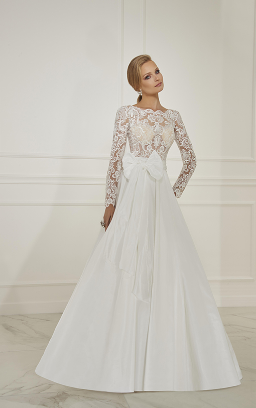 robe de mariée princesse en taffetas