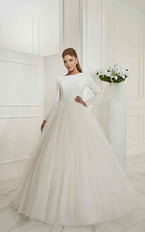 robe de mariée princesse en satin et tulle