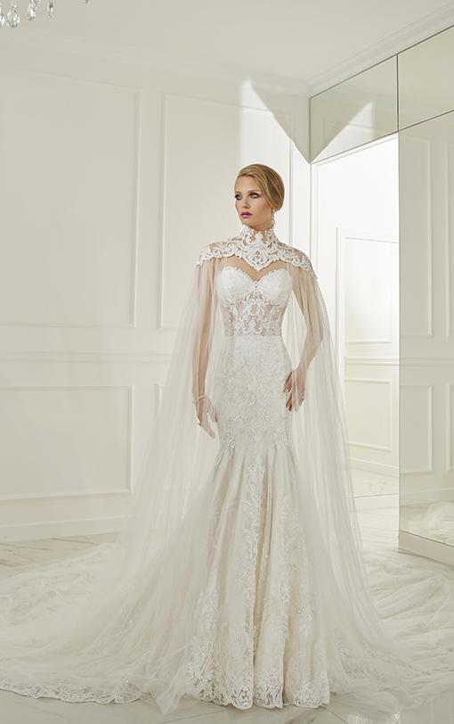 robe de mariée avec cape