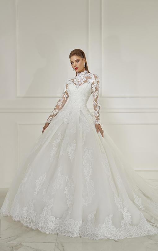 robe de mariée princesse col haut