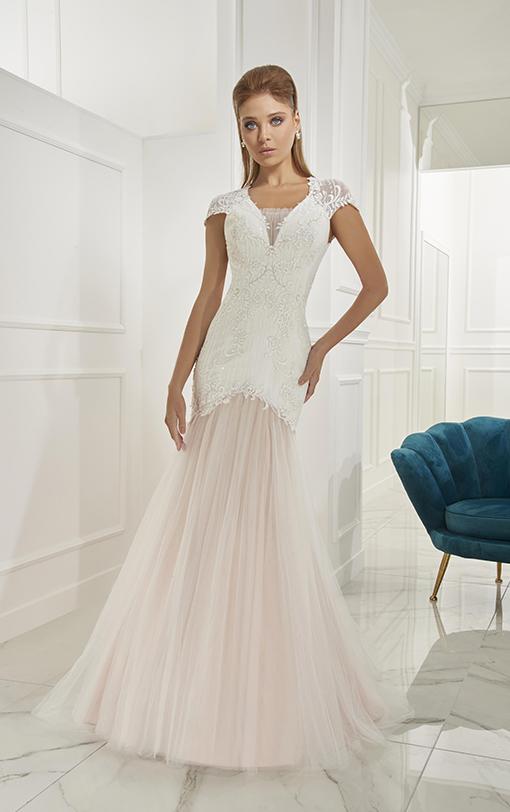 robe de mariée sirène avec épaulettes