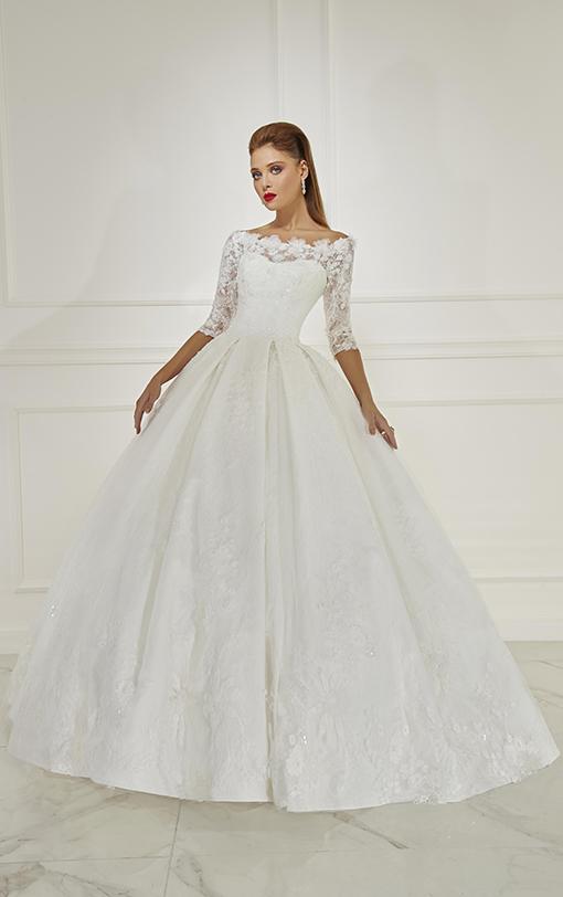 robe de mariée princesse fleurs brodées