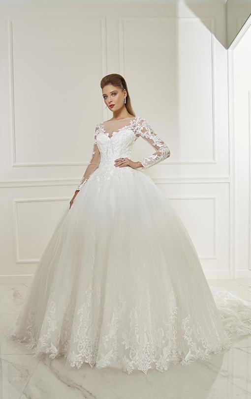 Robe de mariée princesse avec manches longues