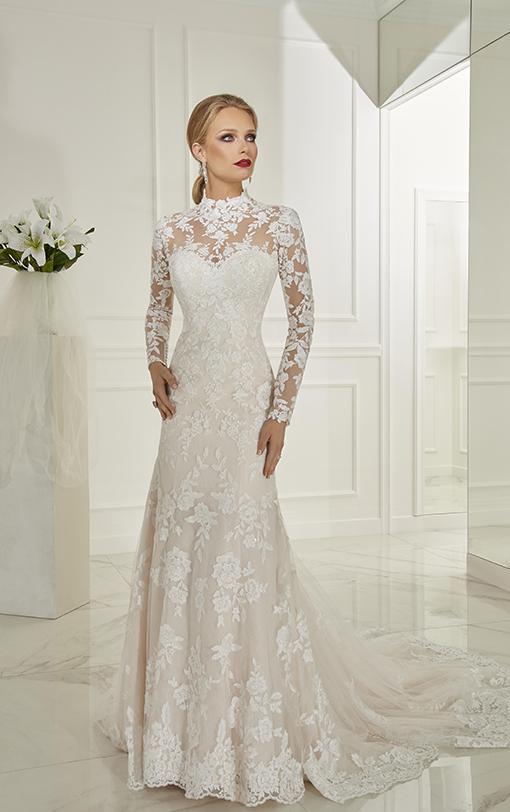 robe de mariée sirène col haut