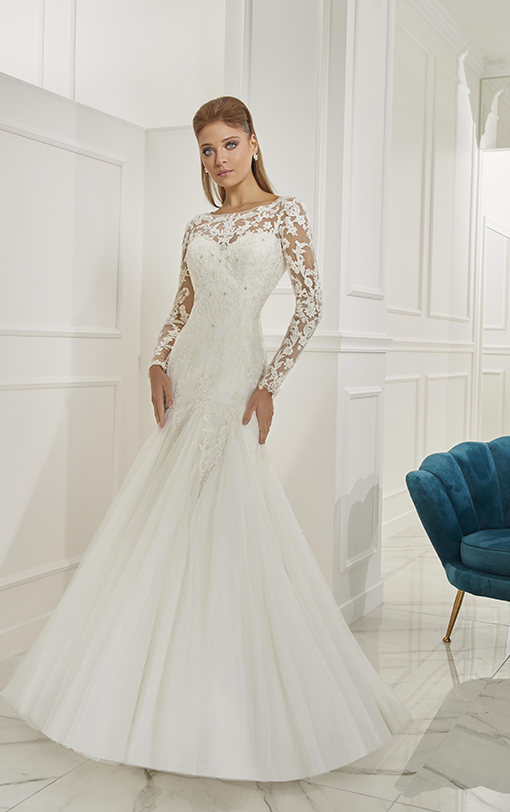 robe de mariée sirène manches longues