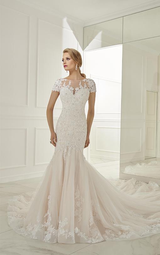 Robe de mariée sirène manches courtes