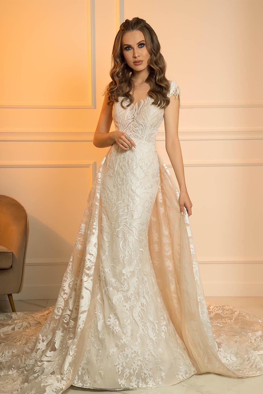 robe de mariée avec surjupe