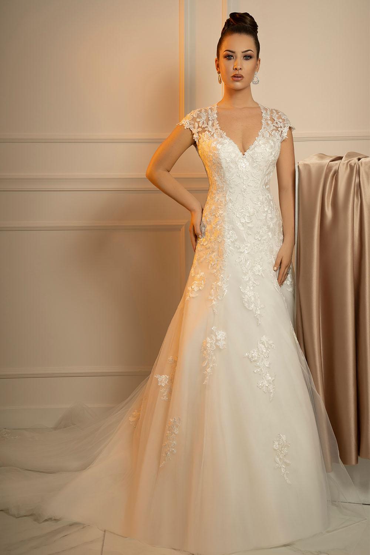 Robe de mariée évasée