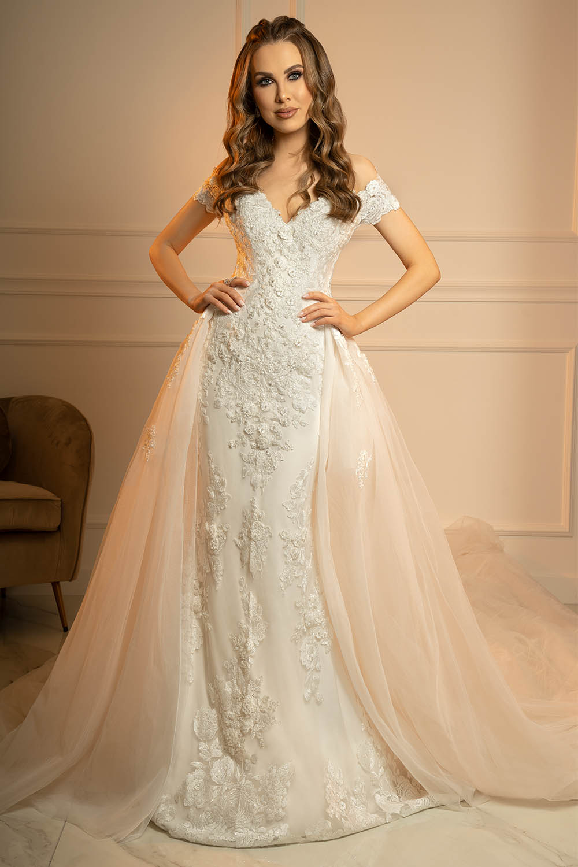 robe de mariée sirène avec surjupe
