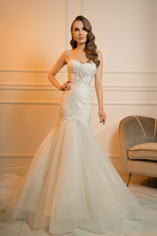 robe de mariée avec bretelles